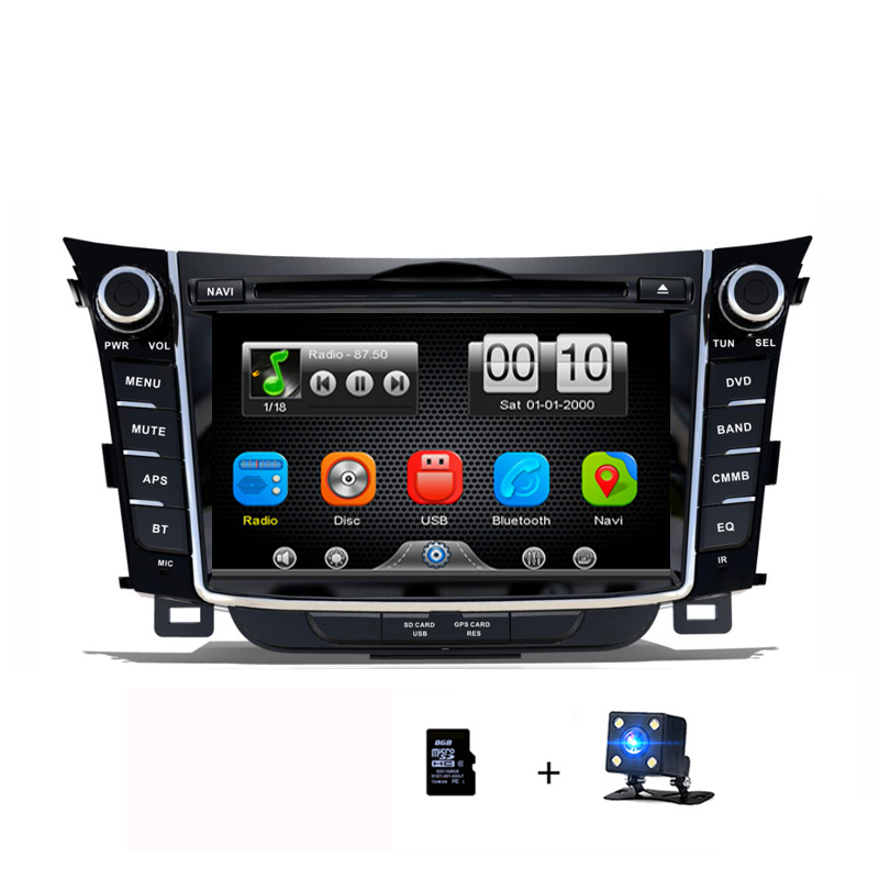 Double din autoradio GPS navigateur lecteur DVD 2 din pour Hyundai I30 écran tactile 2012 2013 2014 2015 2016 multimédia stéréo
