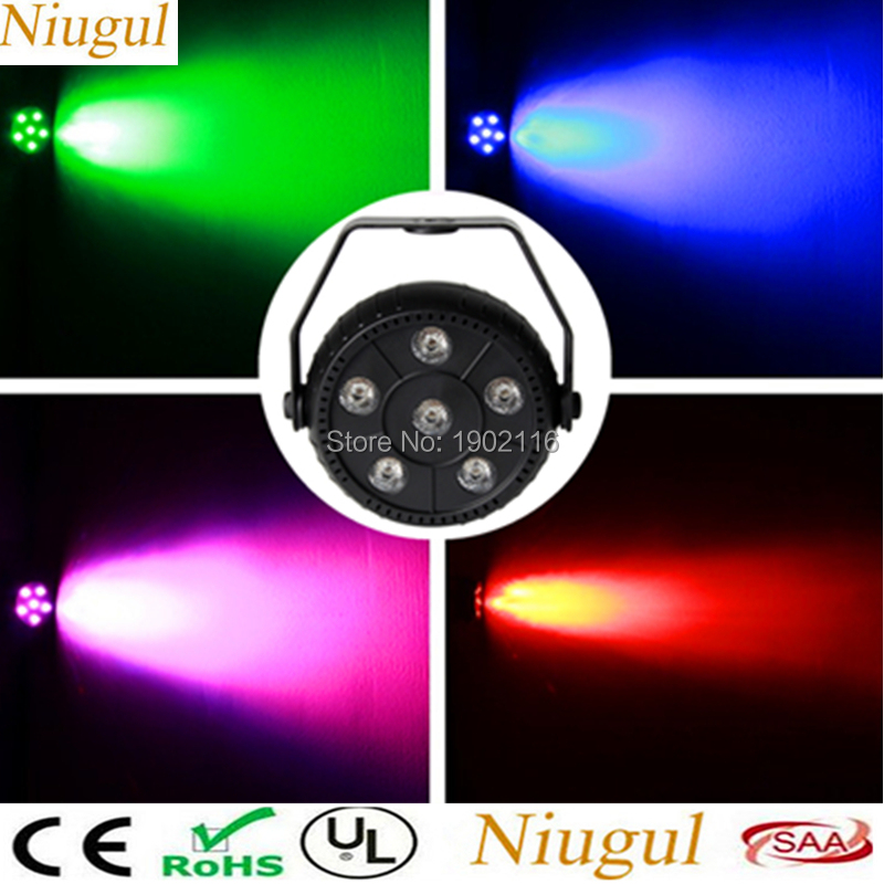4pcs/lot Portable 6X3W Led 3In1 Par Stage Light Disco Party Lights Laser DJ KTV Wash RGB Effect Equipment Home Party Light