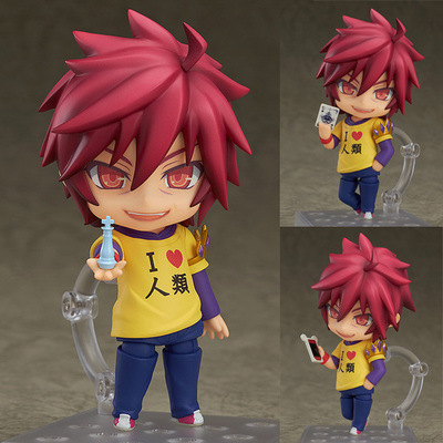 4 NO GAME NO LIFE Shiro Sora Nendoroid PVC Action Figure Collectible Model Toy 10cm Q Version #652 /653