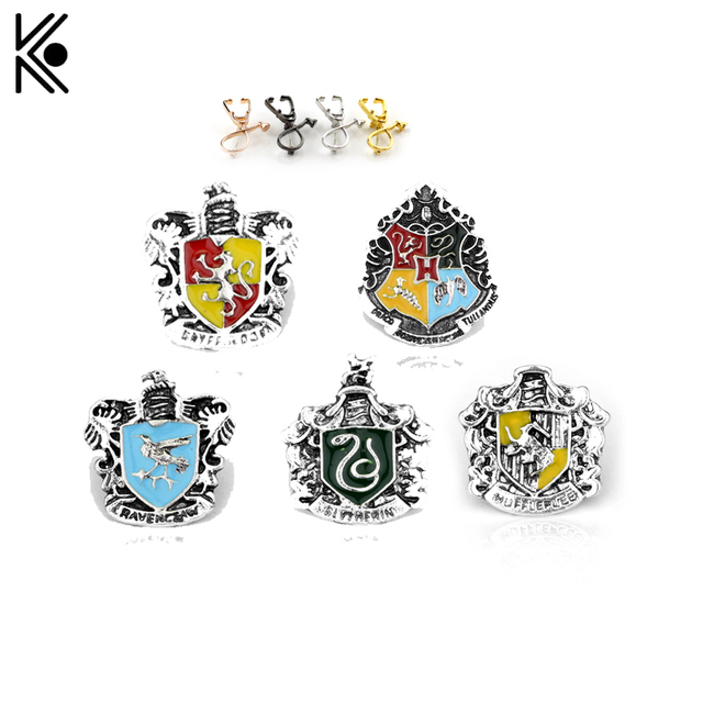 Cosplay Badge Ravenclaw Hogwarts Slytherin Hufflepuff pins and brooches Stethosc