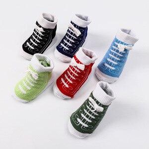 Image 5 - 6 Pairs Baby Socken Lot Neugeborenen Socken Baumwolle Baby Mädchen Jungen Socken Set Nette Kinder Kleinkind Socken Schuhe Zubehör Bunte sommer