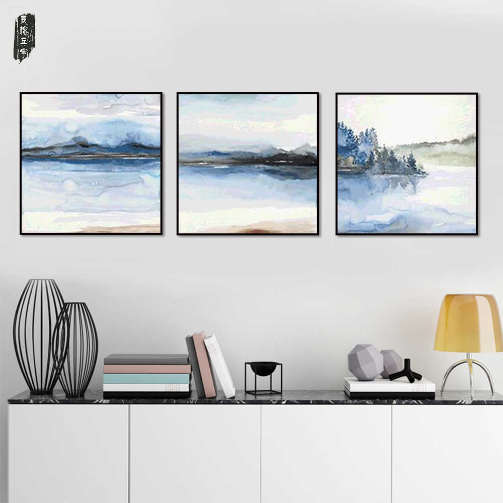 Modern Wall Art Abstract Landscape Canvas Painting Poster and Prints Nordic Wall Pictures for Living Room Canvas Art Sets