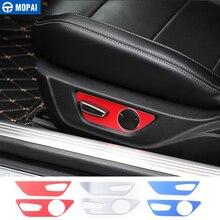 Mopai liga de alumínio ajuste assento interior do carro decoração capa adesivos para ford mustang 2015 up estilo do carro