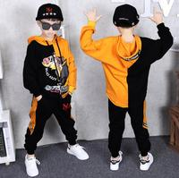 For 3 14 Years Kids 2 pieces Clothes Suits Children Cotton Clothing hiphop Streetwear Dance Set Sport Boys Girls Costumes