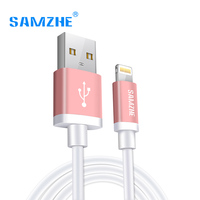 SAMZHE USB Cable For IPhone 6 7 IPad IPod MFI Certificated 2 1A Mobile Phone For