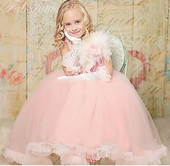 Online Get Cheap Plumas De Color Rosa Vestido De La Muchacha ...