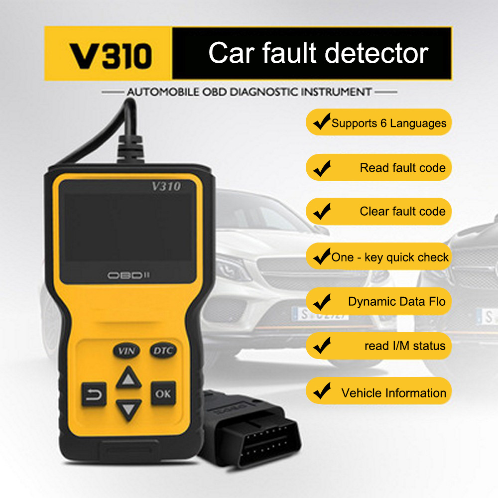 Car Fault Detector OBD Reader Read Error Diagnostic Scanner Engine Fault Code Reader Detector Display Diagnostic Scan Tool-in Code Readers & Scan Tools from Automobiles & Motorcycles