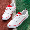 Men and Women Canvas Flats Lace-up White Casual Fashion Couple Summer and Autumn Style Size 35-44
