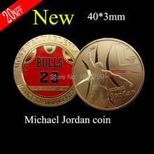 Michael Jordan Basketball Legend Most Valuable Player Challenge Coin,1pcs/lot(China)