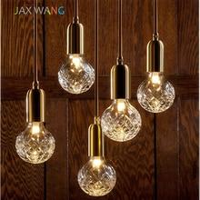 LED G9 Kitchen Dining&Bar Pendant Lights Modern Brass Crystal Lamp Living Room Cafe Bar Lighting Hanging Luminaire Avize
