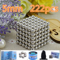 216pcs Diameter 5mm Buck yballs Neo cube Magic Cube Puzzle Magnetic Magnet Balls Spacer Beads Xmas Gift Magico Metal Box