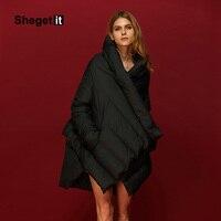 Shegetit Fur Down Parka 2016 New Winter Keep Warm Jacket Women Cloak Outwear 85 Duck Down