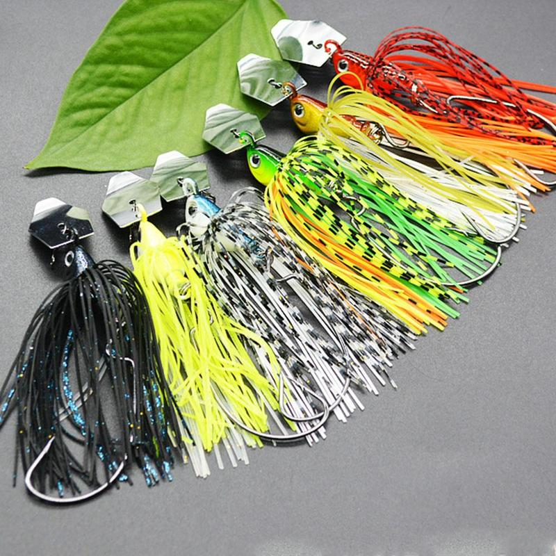 1pcs Spinner Chatter Bait Ocean River Soft Fishing Lure Buzzbait Artificial Rubber Skirt Chatterbait For Bass Dropshipping