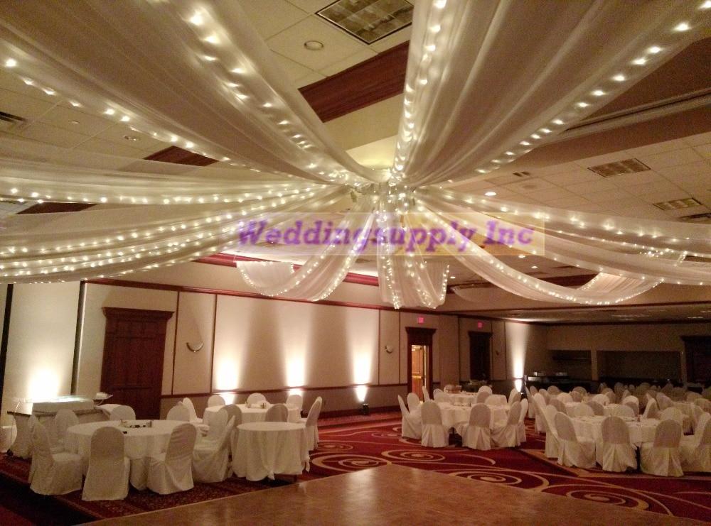 70cmx10m Ceiling Drapes Roof Drape Ice Silk Fabric For Wedding