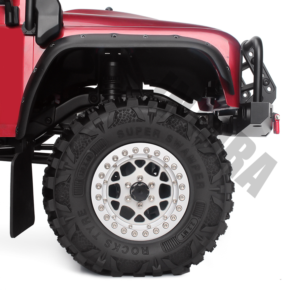 "Image 4 - INJORA 4PCS 2.2"" Mud Grappler Rubber Tyre 2.2 Wheel Tires 120*48MM for 1:10 RC Rock Crawler Traxxas TRX4 Axial SCX10 90046 90047-in Parts & Accessories from Toys & Hobbies"