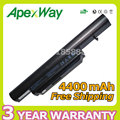 Apexway 11.1V 4400mAh Laptop Battery SQU-1002 SQU-1003 SQU-1008 for Hasee A560P K580P K580S for Haier R410 R410G R410U T6-3