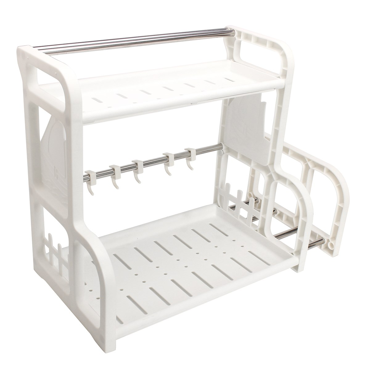Mehrzweck Kunststoff Doppelschicht Gewürzglas Rack Küchen Lagerung ...