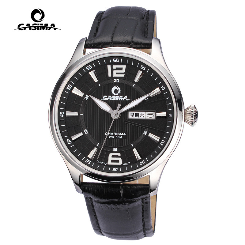 Luxury quartz business couple watch stainless steel lover's  hour black leather week calendar for men and women as gift 5111 calendar 2017 a5 calendar handbook of efficiency for industry and commerce business notepad log can be customized logo