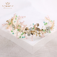 Handmade Crystal Beaded Aesthetic Soft Hair Bands Gold Fashion Bridal Accessories Wedding Accessories