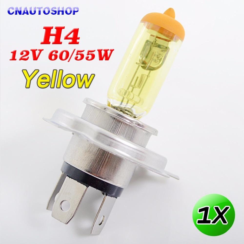 Yellow lamp base - Yellow H4 12v 60 55w Halogen Bulb 3000k Xenon Bright Glass Stainless Steel Base Auto Lamp Car Fog Light