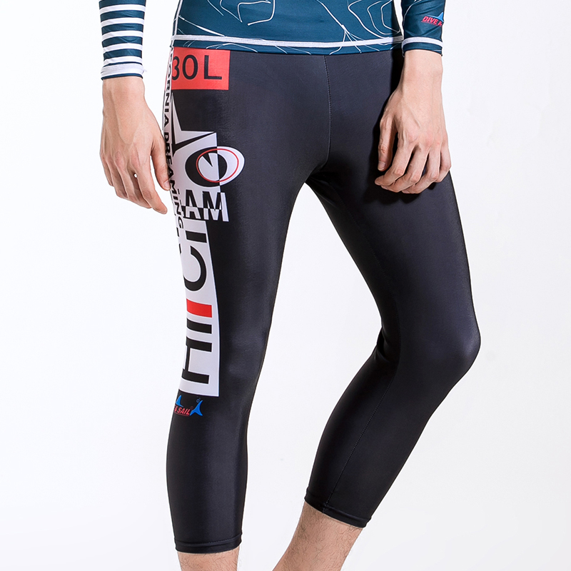 Dive Sail Mens surfing pants beach fitness capri pants fast drying Tights Wetsuit Leggings Yoga Rashguard swimwear Men Trunks