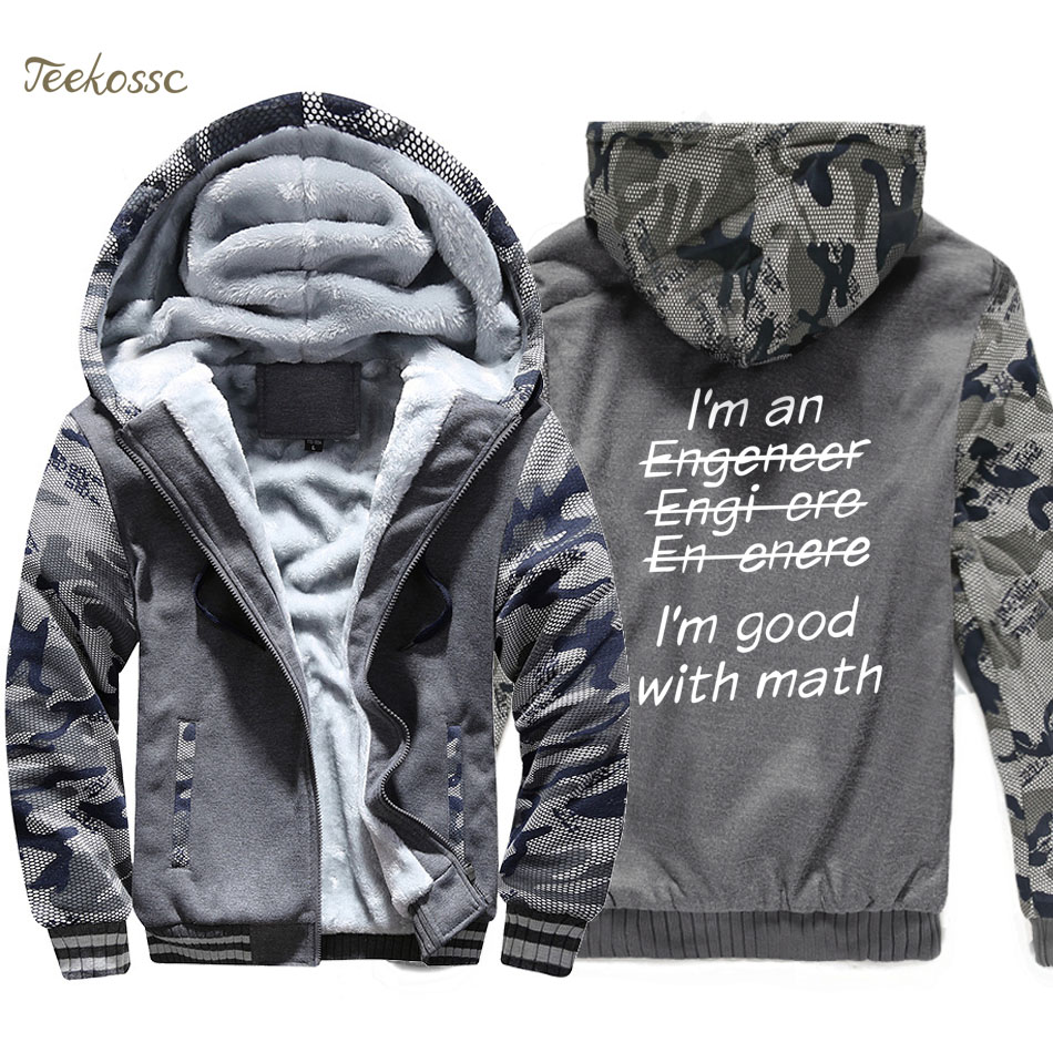 Funny Engeneer Hoodie Men I 39 m An Engineer I 39 m Good At Math Hooded Sweatshirt Coat Winter Fleece Thick Physics Graduate Jacket in Hoodies amp Sweatshirts from Men 39 s Clothing