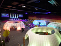 Escritório comercial dobrável conveniente tenda gigante inflável barraca inflável com luzes led e ventilador