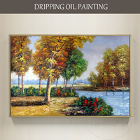 Painter Hand painted High Quality Landscape Oil Painting on Canvas Country Landscape Oil Painting for Living Room Decoration