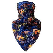 Новый дышащие сухой половина лица шеи гвардии маски треугольник головные уборы езда туризм спорт на открытом воздухе капот велоспорт маски V шарф