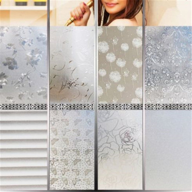 Beautiful removable waterproof privacy frosted glass window film dandelion stickers film window art decor high quality