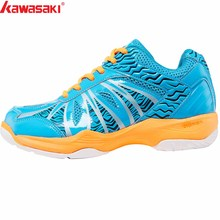 2019 New Kawasaki Badminton Shoes Training Breathable Anti- Slippery Light Cushioning Lace-Up Sneakers  Sports Shoes  K-076 puma new arrival 2017 rihannas women s shoes pescara kawasaki breathable sneakers badminton shoes