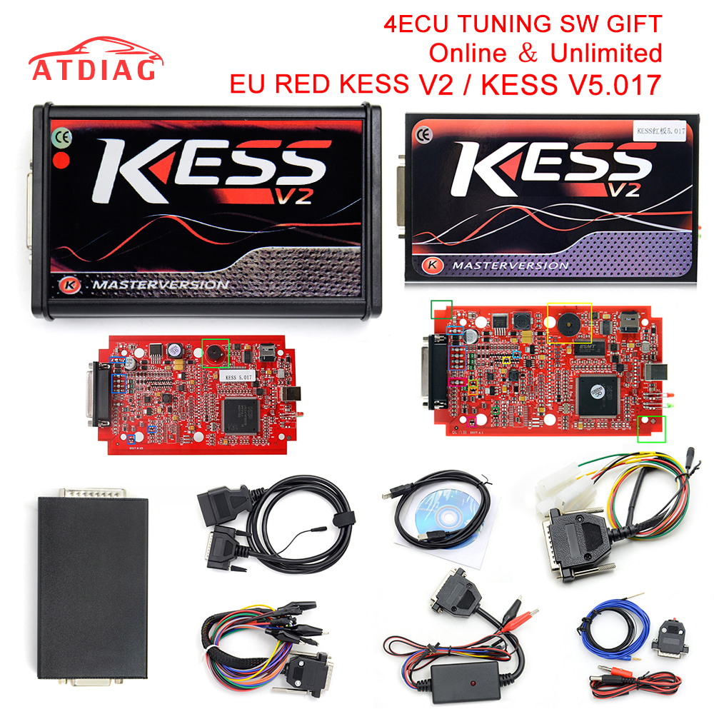 Kess V5.017 Online Version KESS 5.017 No Token Limit V2.23 Kess V2 OBD2 Manager Tuning
