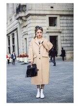 2017 new arrive women woolen long jacket #971