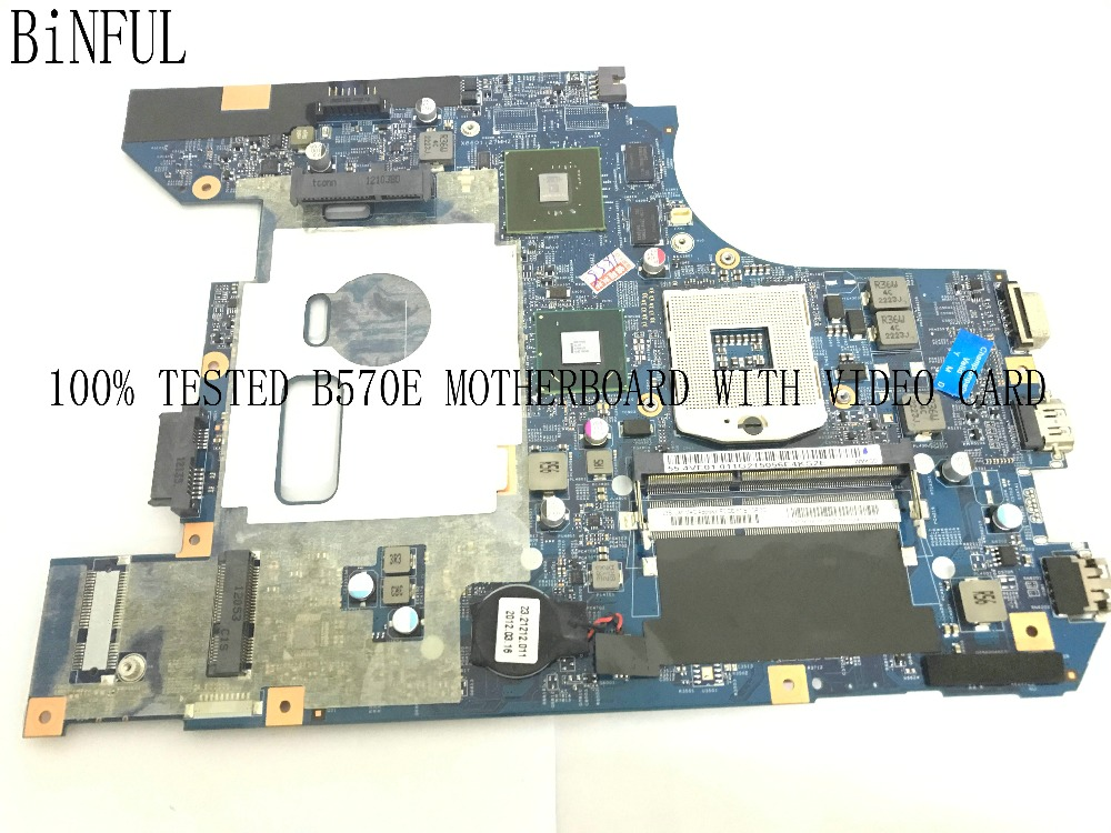 BiNFUL HOT IN RUSSIA UKRAINE ..100% NEW 48.4PA01.021 FOR <font><b>LENOVO</b></font> <font><b>B570E</b></font> LAPTOP MOTHERBOARD ONBOARD VIDEO CARD N12M-GS-B-A1 image