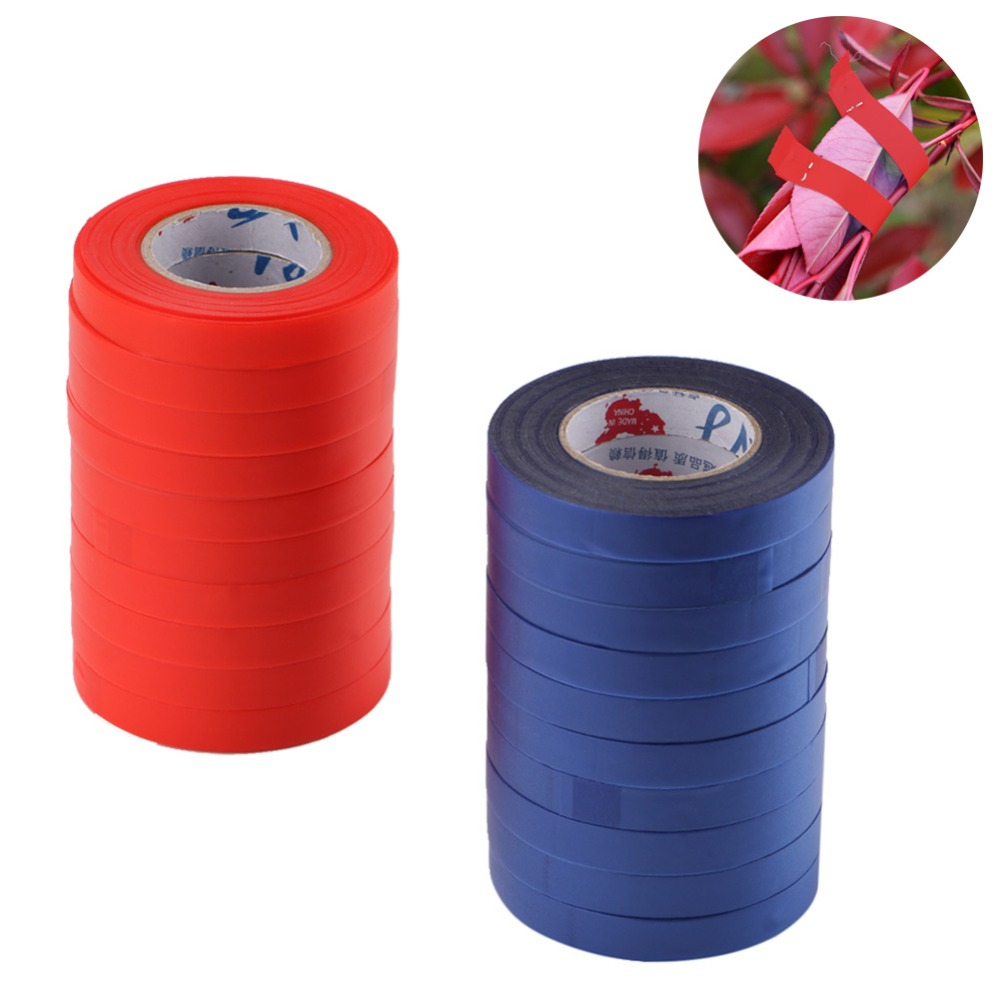 10pc/set PE Grafting Film Roll/25M Garden Tapes Plant Support Flower Vegetable Plant Branch Hand Tying Binding Tape Garden Tools