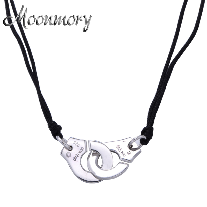 France famous brand jewelry 925 sterling silver handcuff pendant france famous brand jewelry 925 sterling silver handcuff pendant necklace for women top quality silver aloadofball Image collections