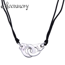 France Famous Brand Jewelry 925 Sterling Silver Handcuff Pendant & Necklace For Women Top Quality Silver Necklace With Rope