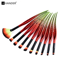 VANDER Professional 10Pcs Makeup Brushes Set Foundation Eyeshadow Make Up Brush Tools Kits Cosmetics Brushes Soft