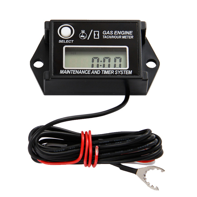 Free shipping Inductive tach hour meter for motorcycle marine snowmobile jet ski chain saw motorboat van cleaning equipment ATV