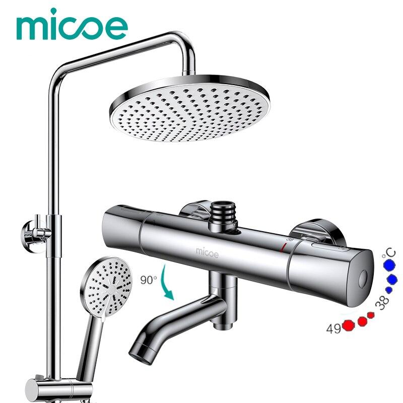 Micoe dusche set intelligente thermostatischer hahn dusche düse messing thermomischer bad wasserhahn