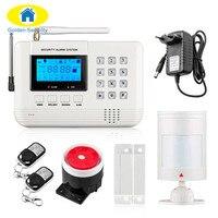 Wireless 433 MHz Dual Network GSM PSTN Alarm System Home Burglar Security Alarm System Free Shipping