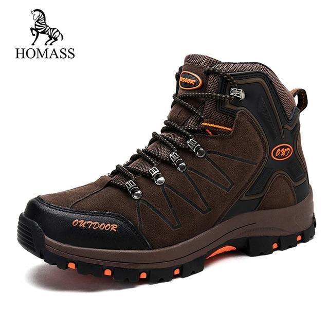 HOMASS ビッグサイズ 39-45 新男性ブーツ冬の雪のブーツレースアップ高品質のファッションの男性の安全カジュアル靴スニーカーフロックブーツ