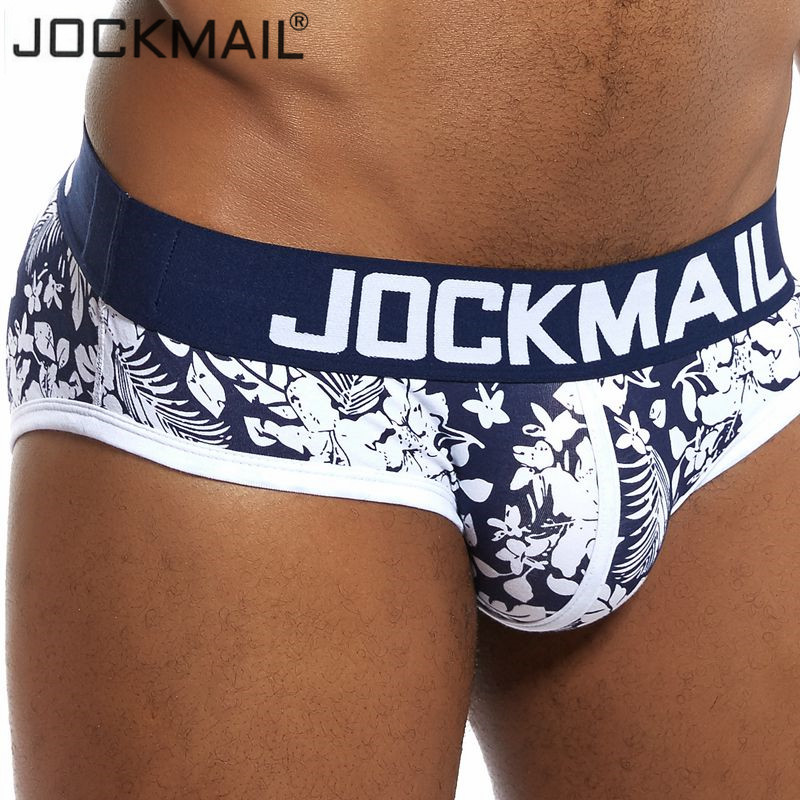 JOCKMAIL Sexy Man Underwear Dots Men Briefs Cotton Male Panties Slip Cueca Gay Underpants Briefs Men Shorts Fashion Printed