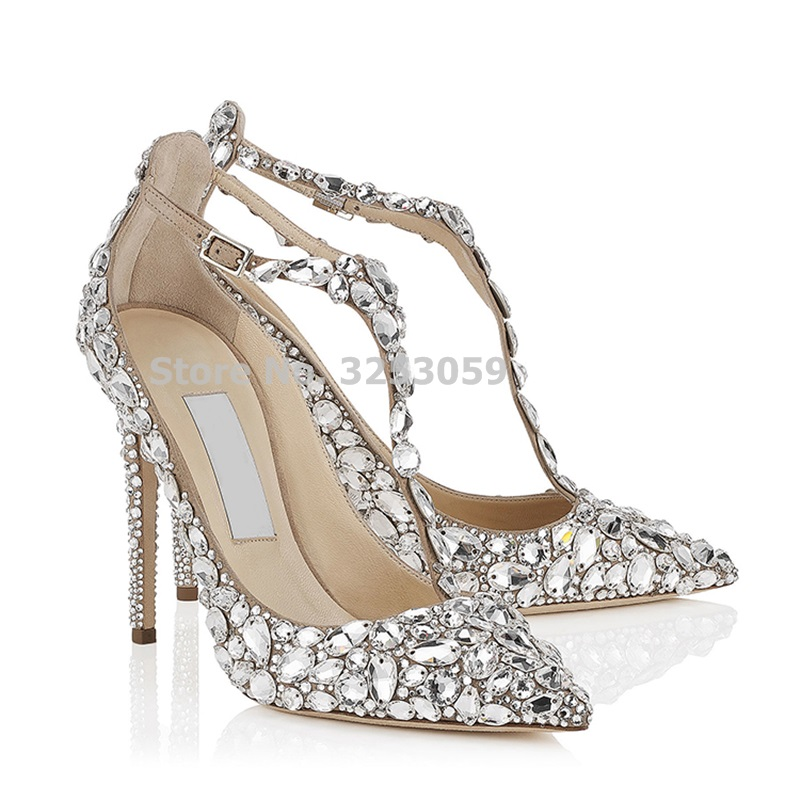 ALMUDENA Women Top Brand Sparkling Wedding Shoes String Beaded Fabulous Banquet Shoes Stiletto Heel Crystal Pumps Pearl Footwear цены онлайн