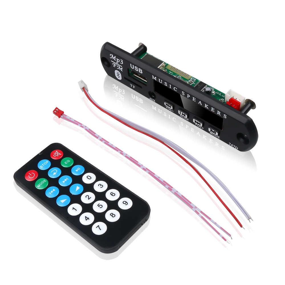 カラーディスプレイハンズフリーカーキットの Bluetooth MP3 プレーヤーサポートレコーディング Tf カード U-ディスク 3.5 ミリメートルオーディオアダプタワイヤレス DIY スピーカー