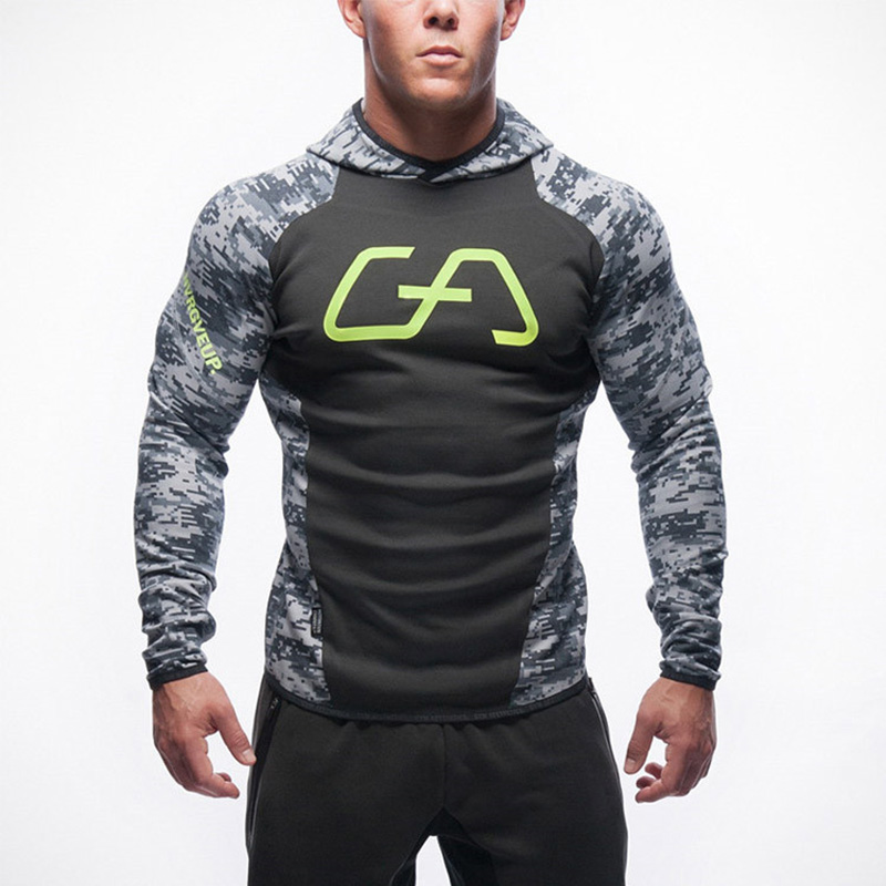 2018 Autumn Casual Camouflage Men' S Sweatshirt Hoodies Tracksuits Bodybuilding Fitness Clothes Male Jackets Sportswear