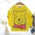 Новая коллекция весна одежда для новорожденных дети майка мультфильм weenie медведь футболка с длинным рукавом для 0-2Y ребенок