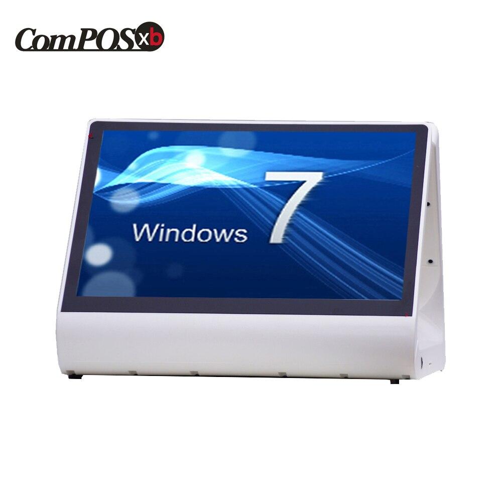 Acessível 12 inch duplo sistema pos caixa registradora toque tudo em uma máquina da posição do computador para o restaurante e a indústria varejo