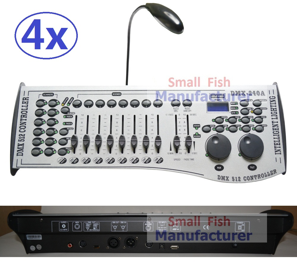 4xLot Free Shipping DMX240 Console DMX 512 Controller 192 Channels Professional DJ Disco Stage Equipments Led Par Effect Lights free shipping dmx 192 controller cheap