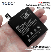Original BM46 Lithium Battery Polymer 4000mAh For hongmi Not